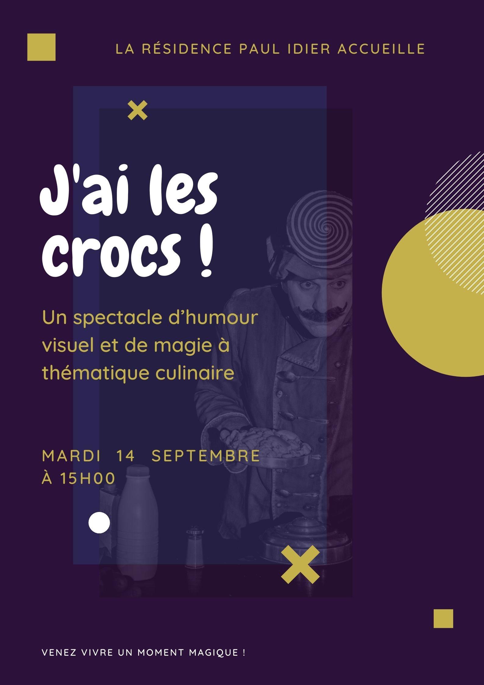 Poster J'ai les crocs